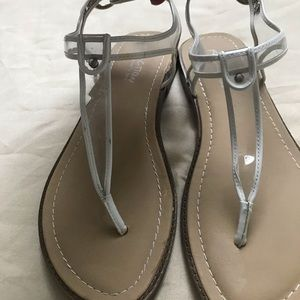 Sandals clear and white